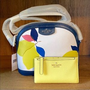 KSNY Blue Lemon Sylvia Crossbody & Jackson Wallet